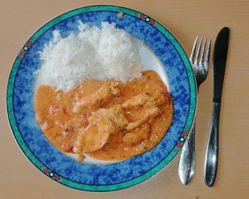 Paprika-Sahne-Hähnchen