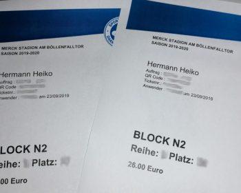 Tickets für den SVD.